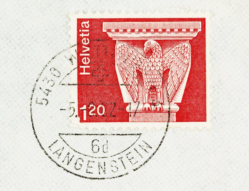 Timbre-poste avec le motif d'oiseau images libres de droits