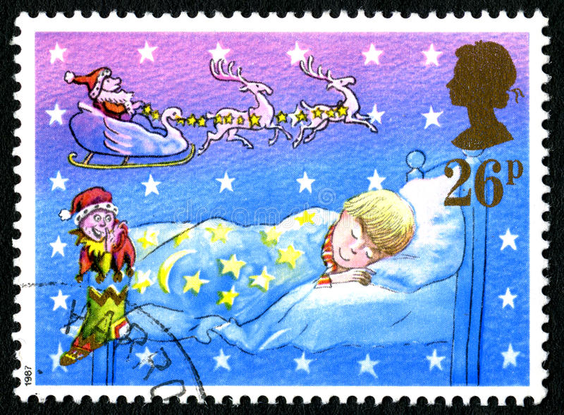 Timbre-poste BRITANNIQUE de Noël photo stock