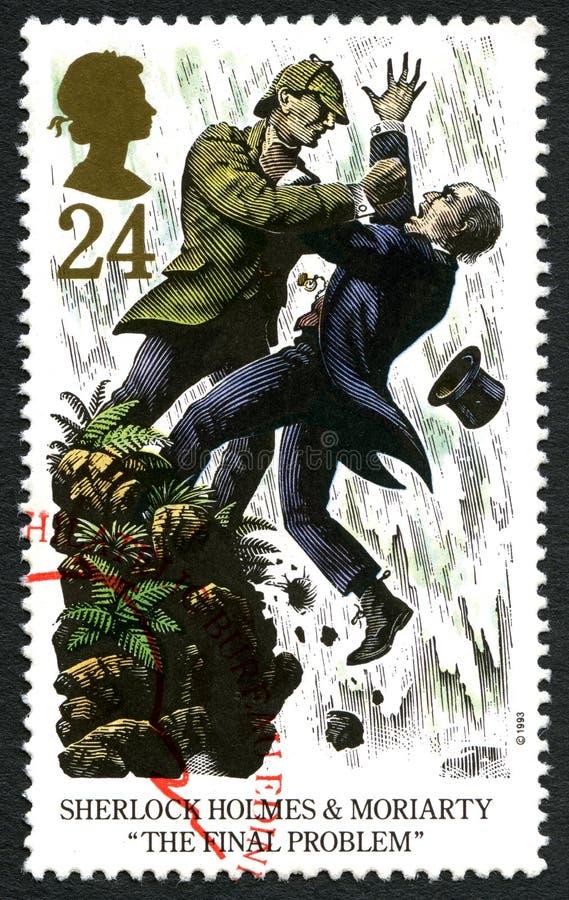 Timbre-poste BRITANNIQUE de Sherlock Holmes illustration de vecteur