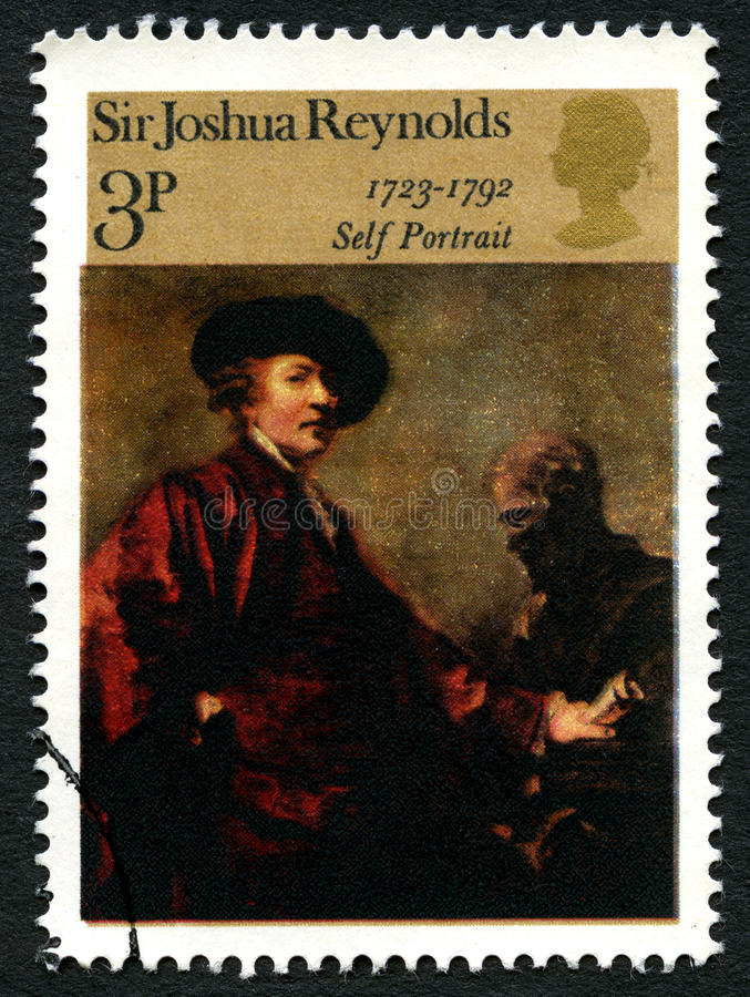 Timbre-poste BRITANNIQUE de Sir Joshua Reynolds photos stock