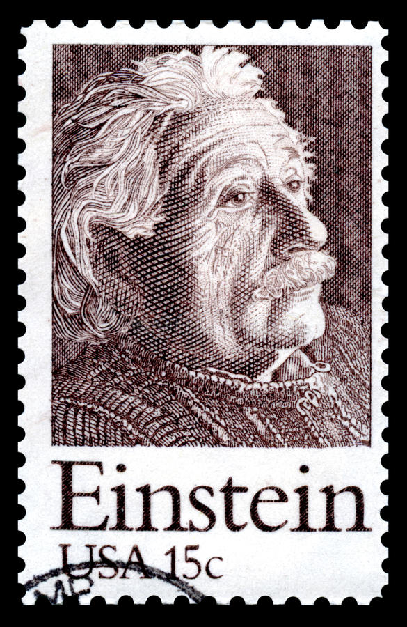 Timbre-poste d Albert Einstein Etats-Unis