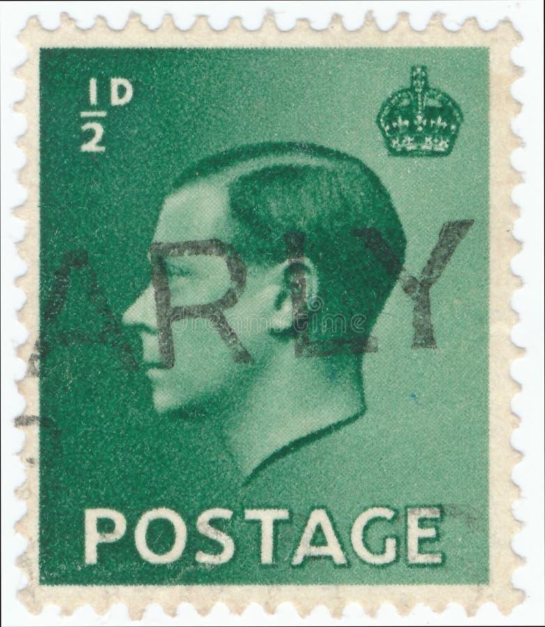 Timbre-poste de cru imprim? en Grande-Bretagne 1936, le Roi Edward VIII photo libre de droits