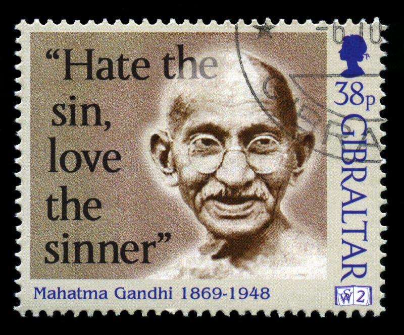 Timbre-poste de Mahatma Gandhi photo stock