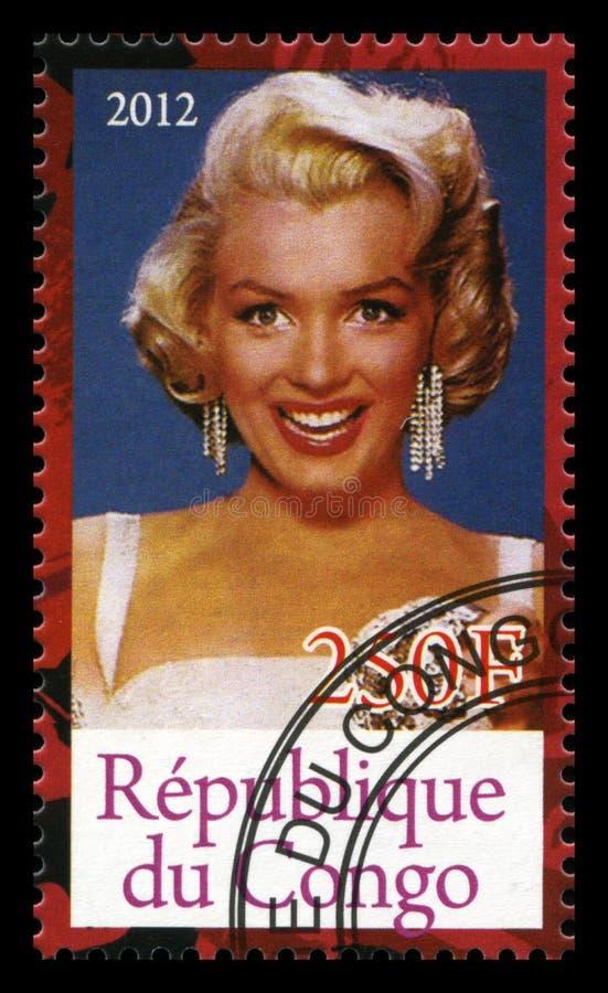 Timbre-poste de Marilyn Monroe photo stock