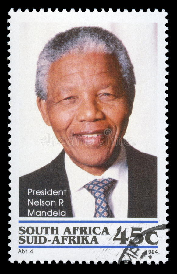 Timbre-poste de Nelson Mandela Afrique du Sud photo libre de droits