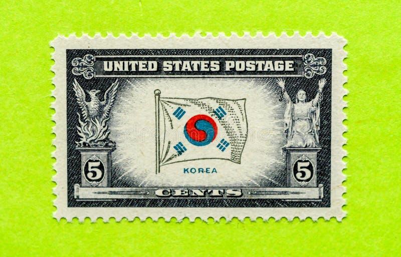 Timbre-poste des Etats-Unis de vintage images libres de droits