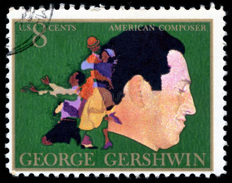 Timbre-poste des Etats-Unis George Gershwin photos stock
