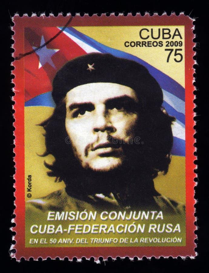Timbre-poste du Cuba de cru Che Guevara images stock