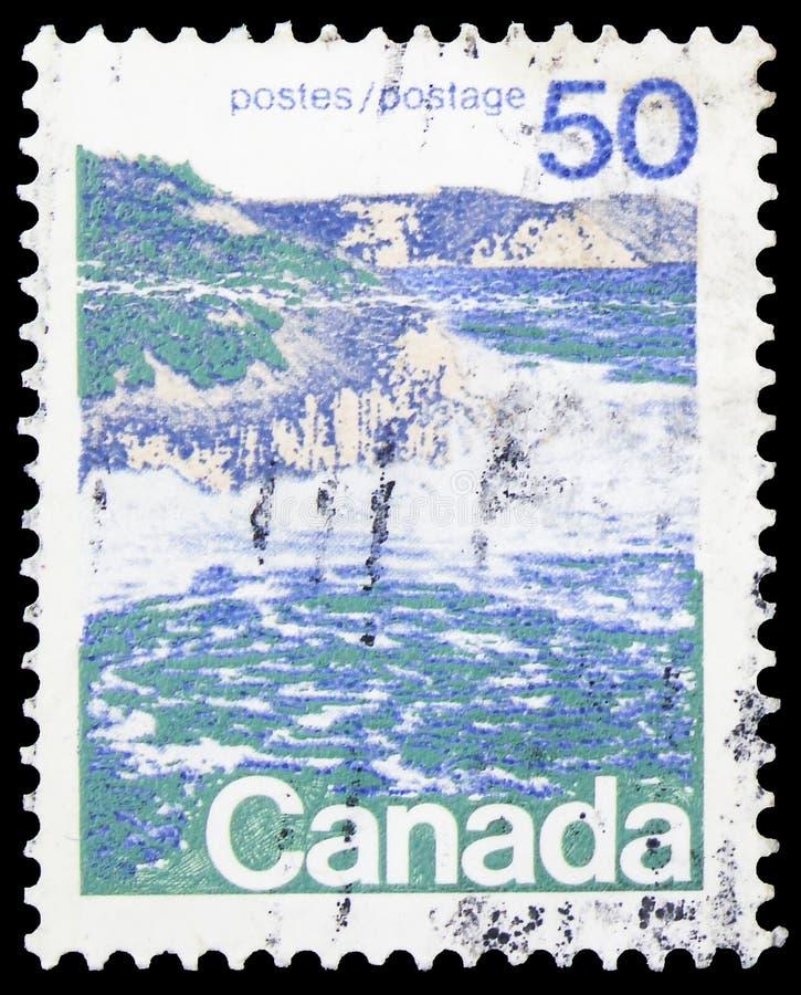 Timbre-poste imprimé au Canada montre Seashore, série Définitives 1972-77, vers 1976 photographie stock