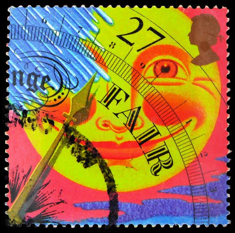 Timbre-poste imprimé au Royaume-Uni montre \'Fair\', La série Weather, vers 2001 photographie stock libre de droits