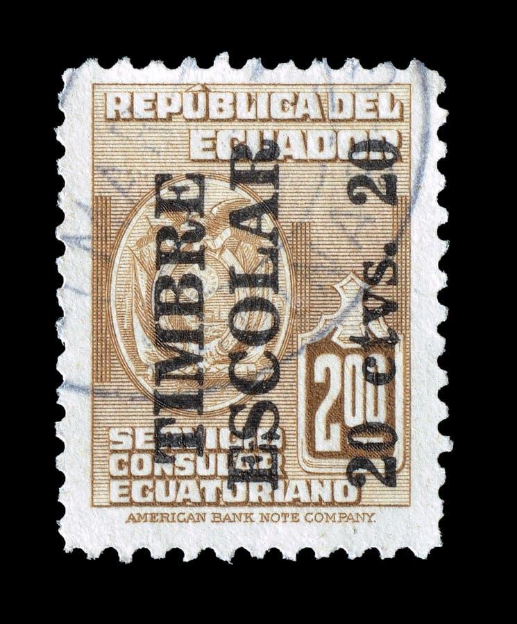 Timbre-poste imprim? par l'Equateur images libres de droits