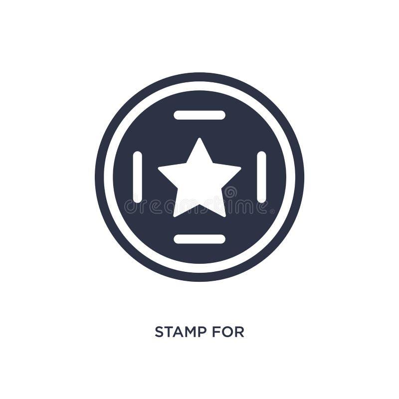 timbre pour l'icône de passeports sur le fond blanc Illustration simple d'élément de concept de terminal d'aéroport illustration de vecteur