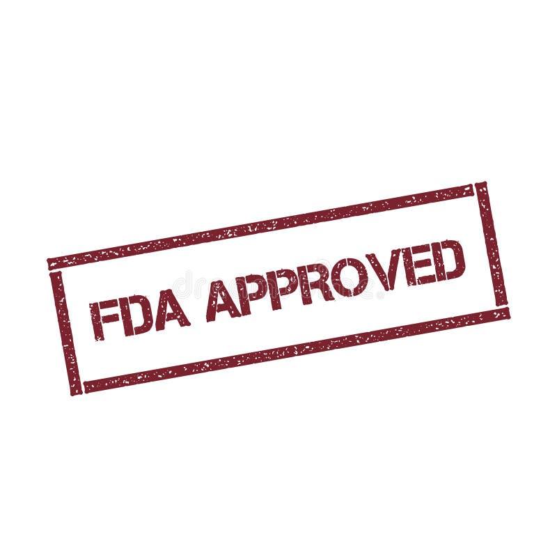 Timbre rectangulaire approuvé par le FDA illustration stock