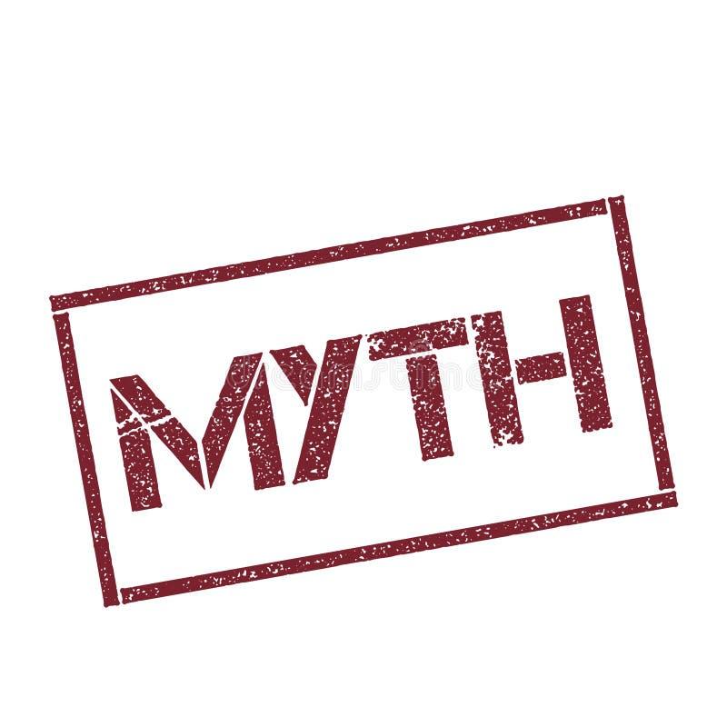 Timbre rectangulaire de mythe illustration de vecteur