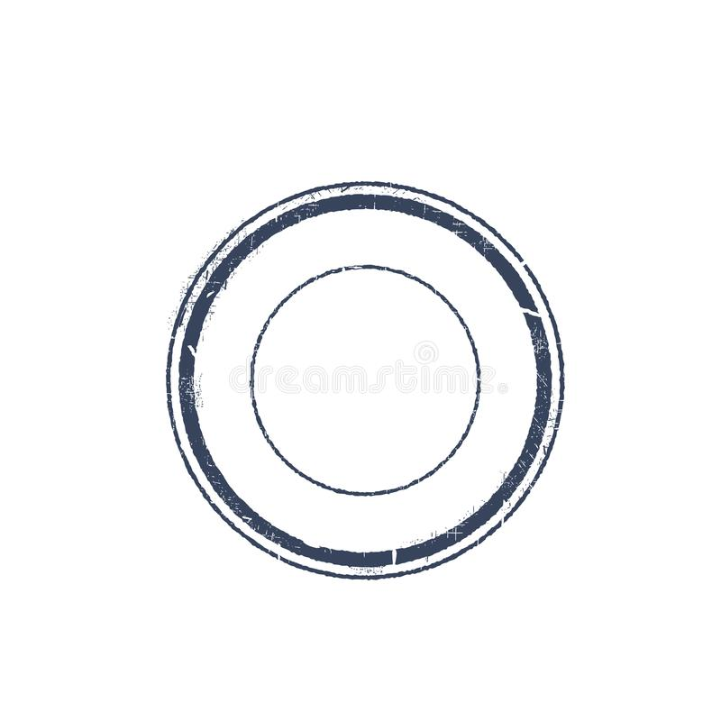 Timbre rond illustration stock