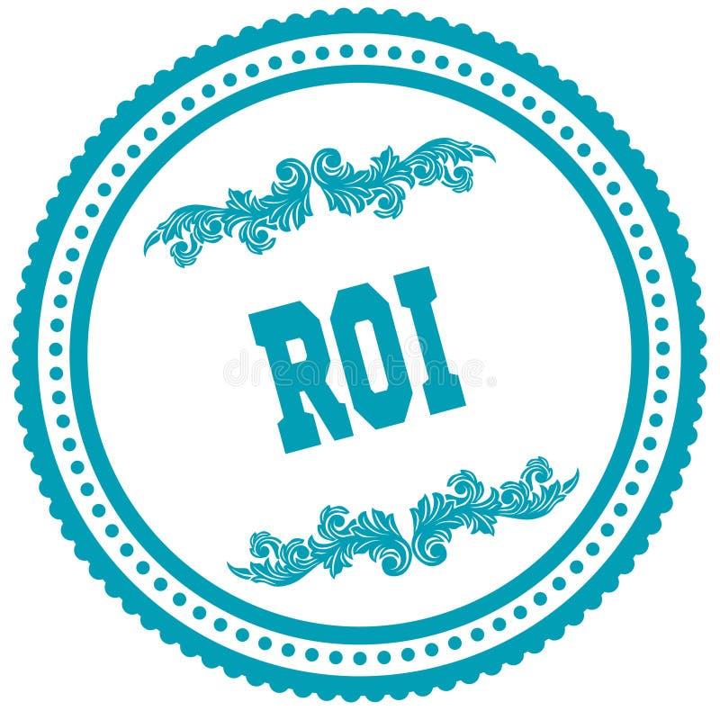 Timbre rond bleu de ROI illustration de vecteur