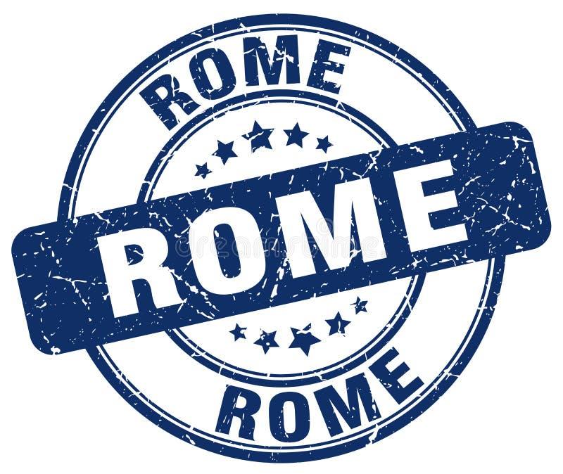 Timbre rond grunge bleu de Rome illustration stock