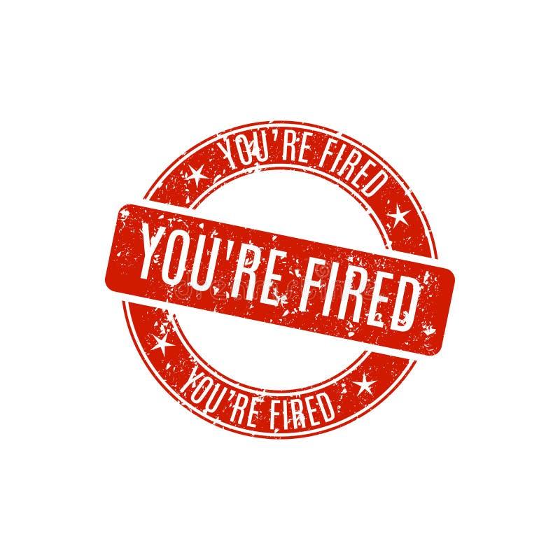 Timbre rond vous ` au sujet de mettre le feu, illustration de vecteur illustration libre de droits