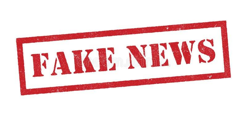 Timbre rouge de fausses actualités illustration libre de droits