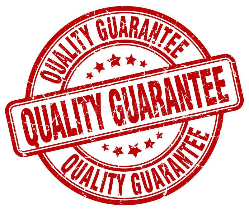 timbre rouge de garantie de qualité illustration de vecteur