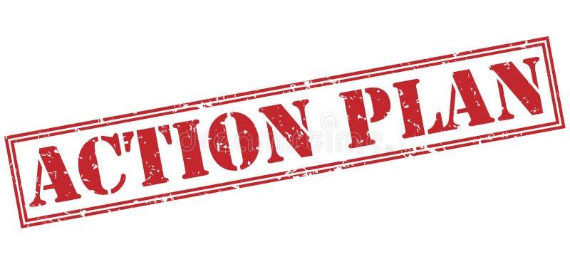 timbre rouge de plan d'action illustration libre de droits