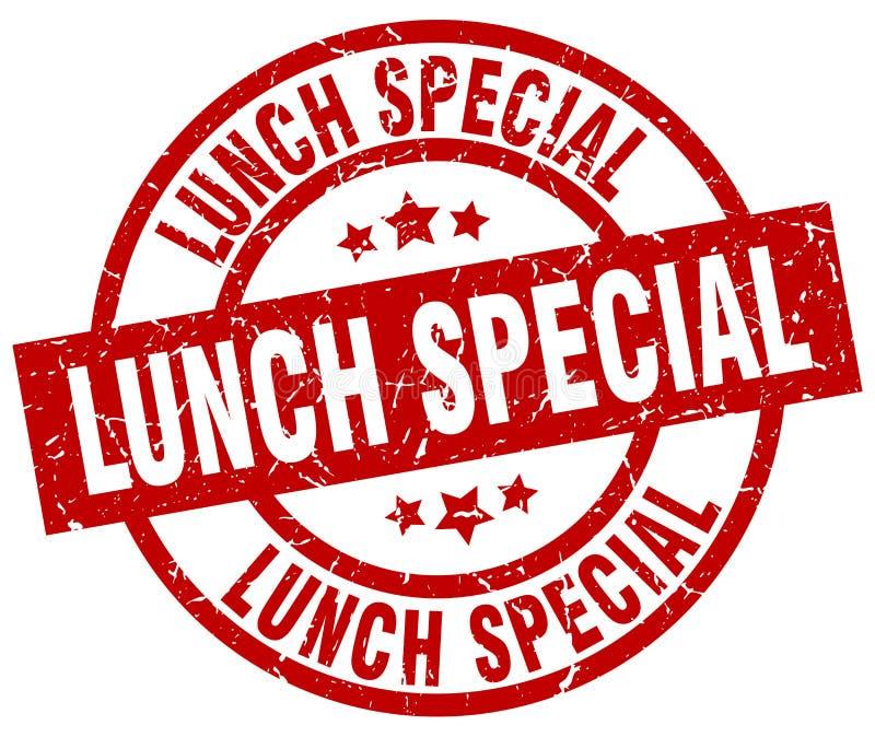 Timbre spécial de déjeuner illustration de vecteur