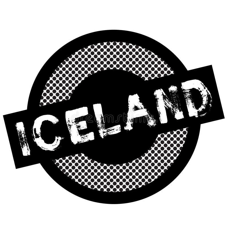 Timbre typographique de l'Islande illustration stock