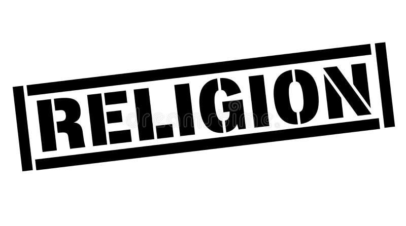 Timbre typographique de religion illustration de vecteur