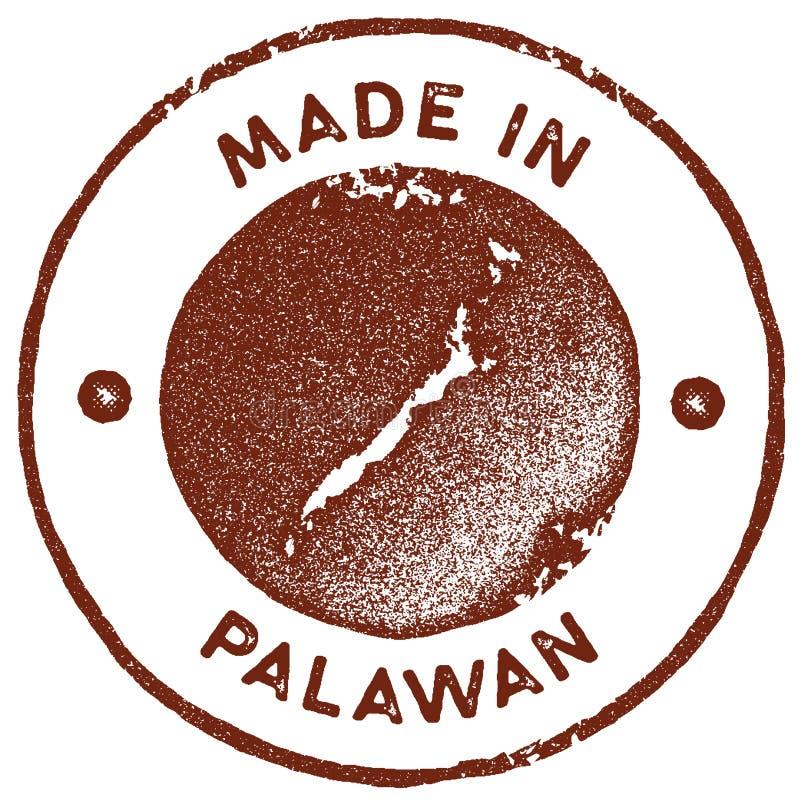 Timbre vintage de la carte de Palawan illustration stock