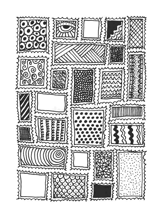 Timbres avec des textures illustration de vecteur