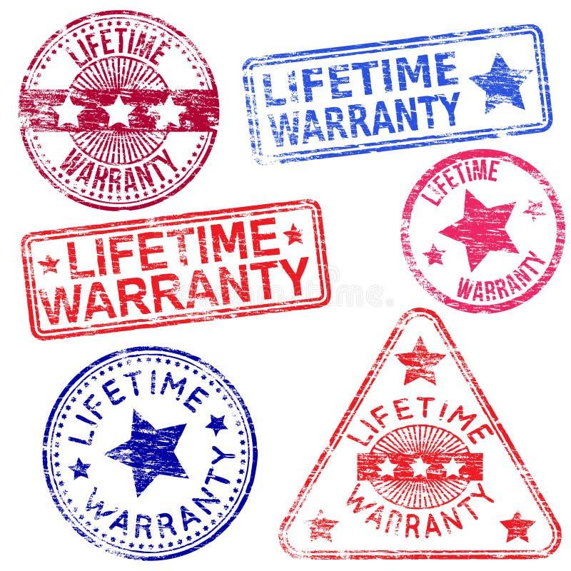 Timbres de garantie à vie illustration de vecteur