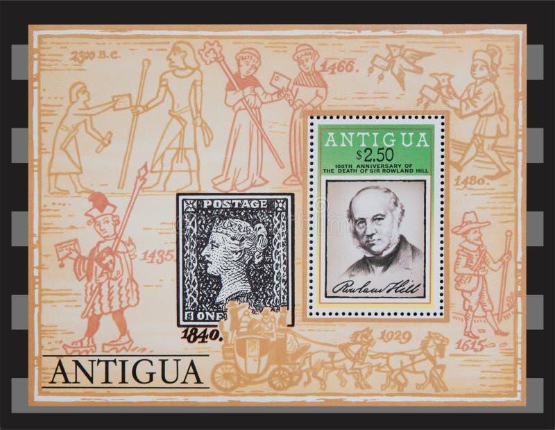 Timbres de l'Antigua illustration stock