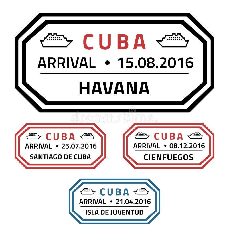 Timbres du Cuba illustration stock