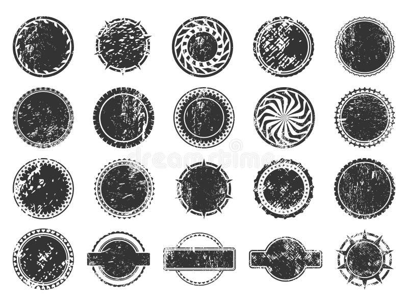 Timbres et icônes d'autocollants réglées illustration libre de droits