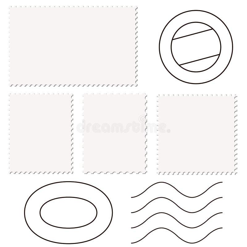 timbres et marques de courrier illustration de vecteur
