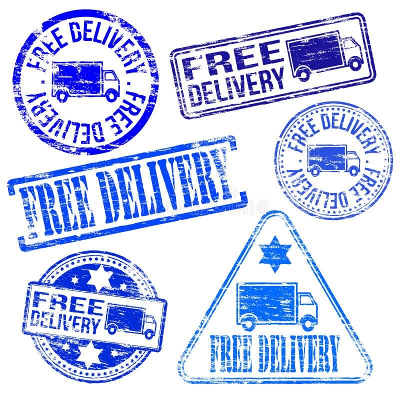 Timbres gratuits de la livraison illustration de vecteur