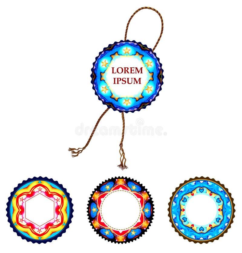 Timbres lumineux de vecteur, labels pour votre conception EPS10 illustration de vecteur