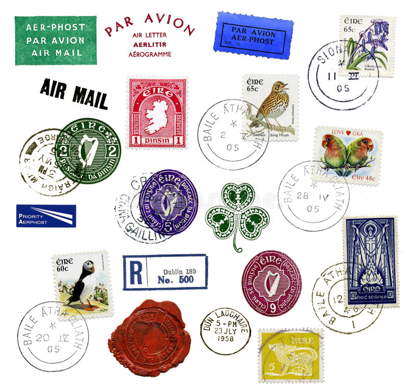 Timbres-poste illustration stock