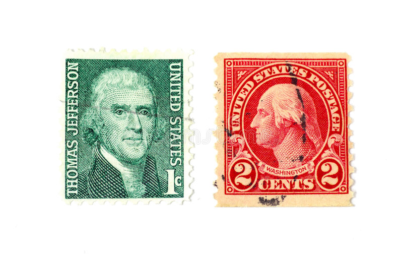 Download Timbres-poste image stock. Image du franklin, jefferson - 74625
