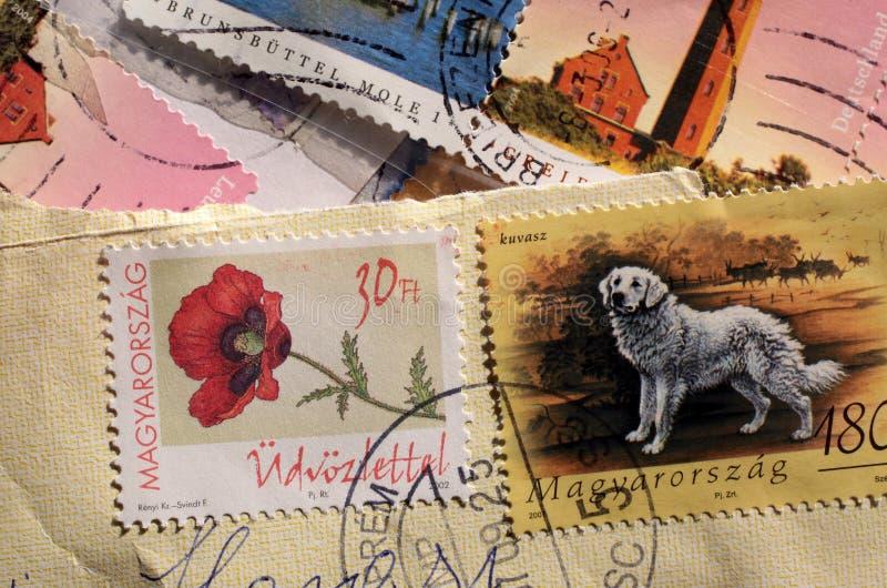 timbres-poste de la Hongrie photo stock
