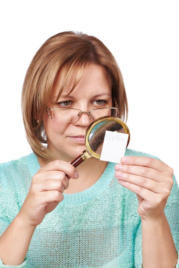 Timbres-poste de observation de femme photos stock