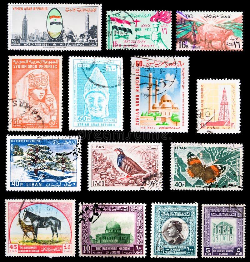 Timbres-poste - Moyen-Orient photos libres de droits