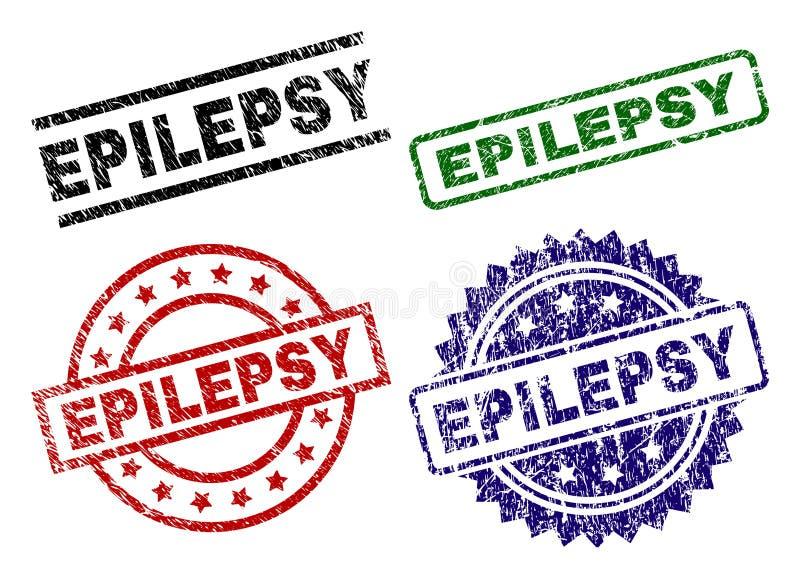 Timbres texturisés grunges de joint d'ÉPILEPSIE illustration libre de droits