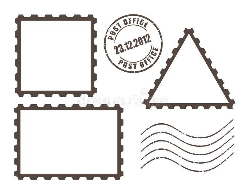 Timbres vides de courrier illustration stock