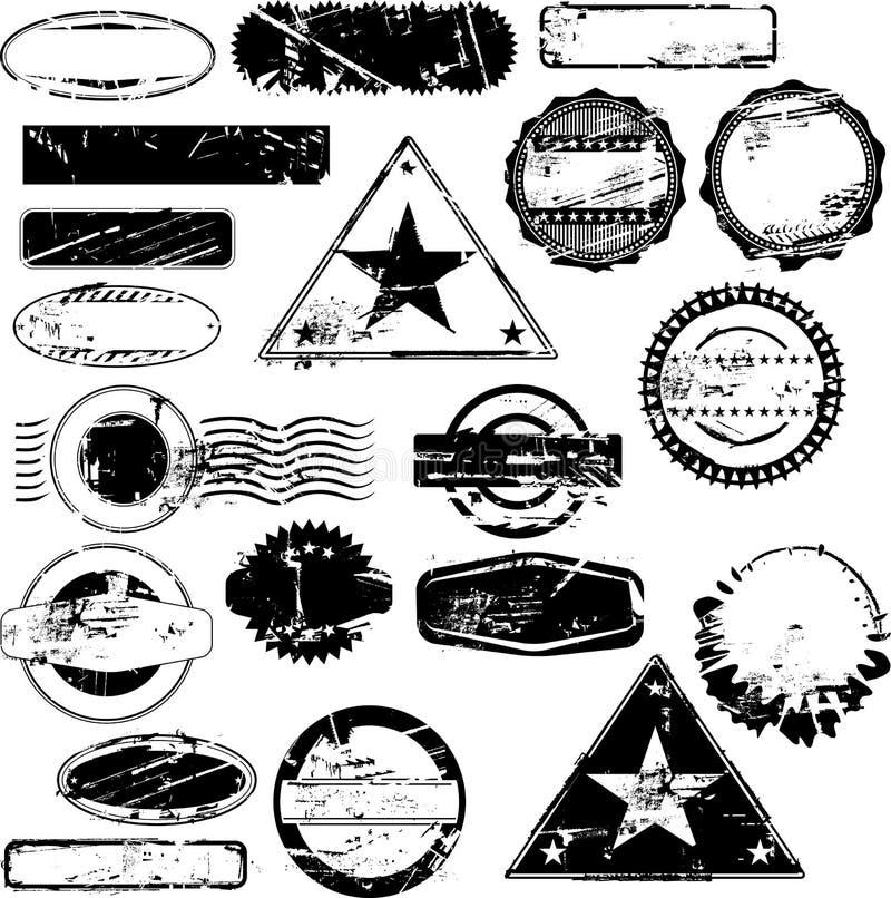 Timbri di gomma vuoti illustrazione vettoriale