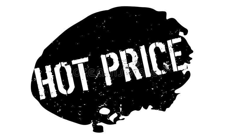 Timbro di gomma caldo di prezzi illustrazione vettoriale