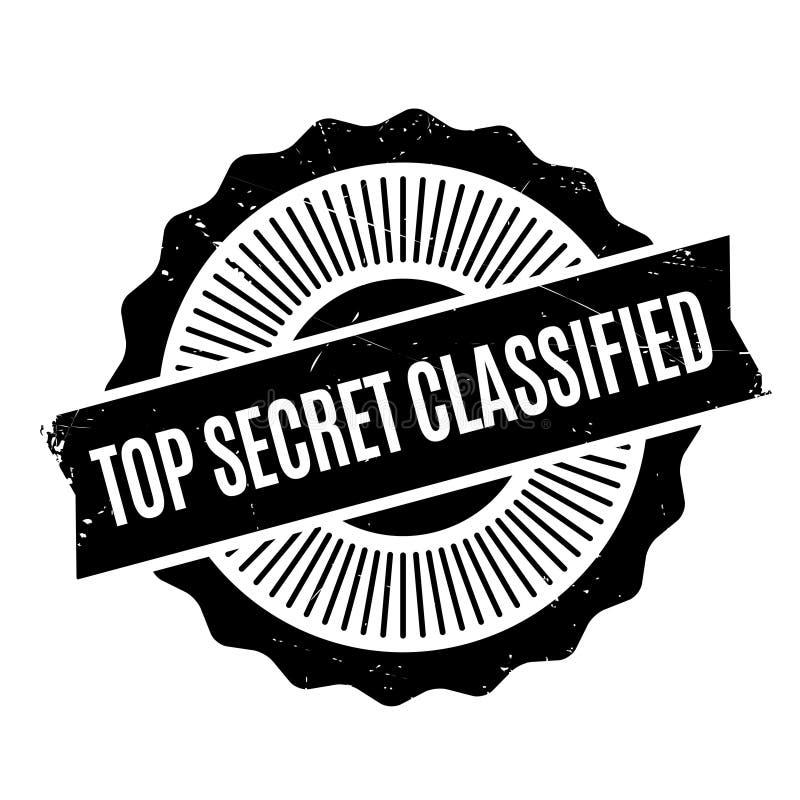 Timbro di gomma classificato top-secret immagini stock libere da diritti