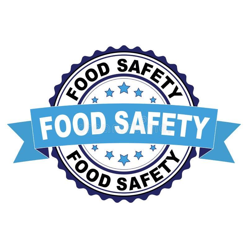 Timbro di gomma con il concetto di sicurezza alimentare illustrazione di stock