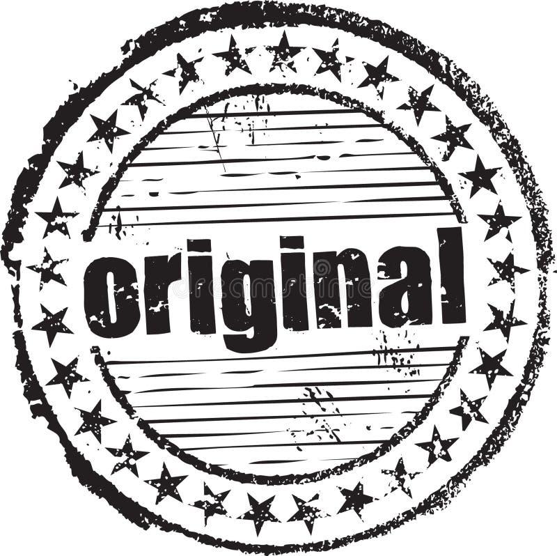 Timbro di gomma con l'originale del testo illustrazione vettoriale