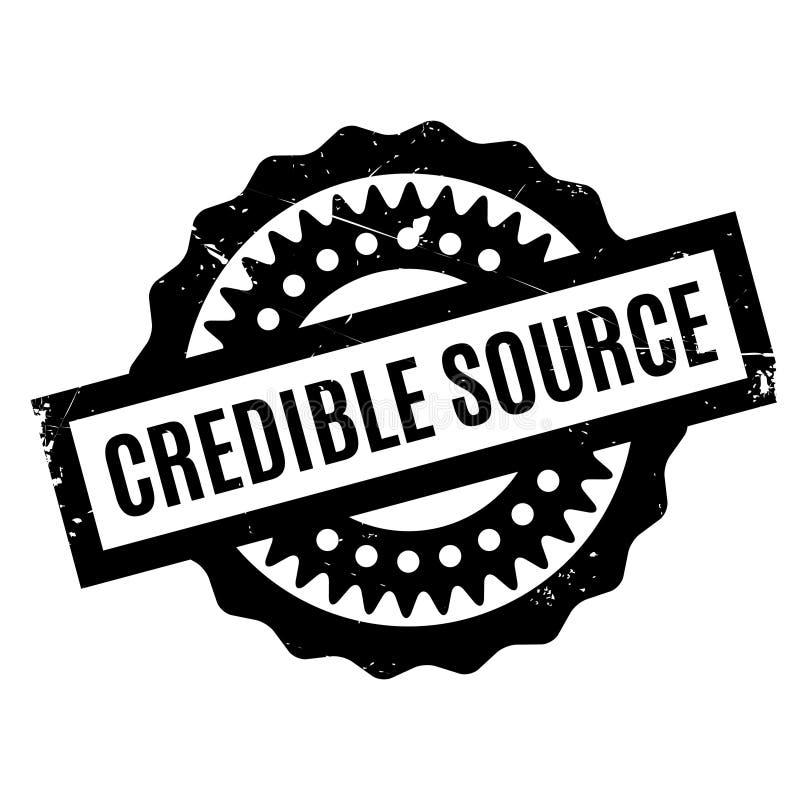 Timbro di gomma credibile di fonte illustrazione vettoriale